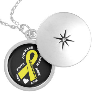 Hope Love Cure...Endometriosis Locket Necklace
