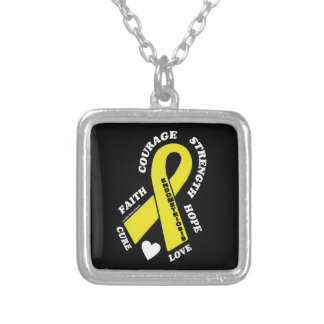 Hope Love Cure...Endometriosis Silver Plated Necklace