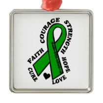 Hope Love Cure...Gastroparesis Metal Ornament