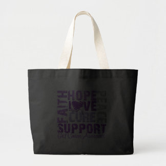 Hope Love Cure GIST Cancer Awareness Canvas Bags