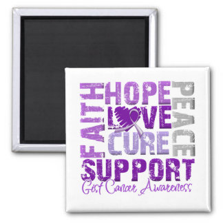 Hope Love Cure GIST Cancer Awareness Fridge Magnets