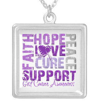 Hope Love Cure GIST Cancer Awareness Necklaces