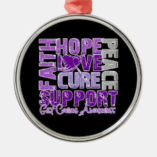 Hope Love Cure GIST Cancer Awareness Christmas Ornament