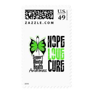 Hope Love Cure Grunge - Mental Health Awareness Stamp
