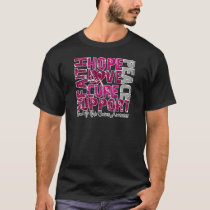 Hope Love Cure Head and Neck Cancer Awareness T-Shirt