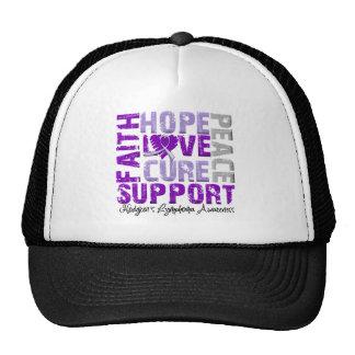Hope Love Cure Hodgkin's Disease Awareness Mesh Hat