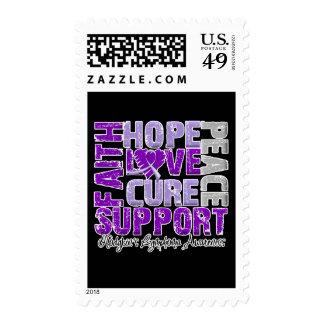 Hope Love Cure Hodgkin's Disease Awareness Stamps