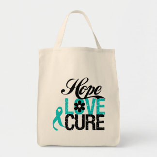 Hope Love Cure Interstitial Cystitis Tote Bags
