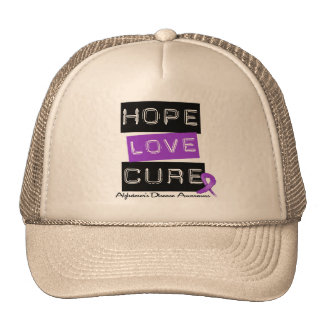 Hope Love Cure Label Alzheimer's Disease Mesh Hats