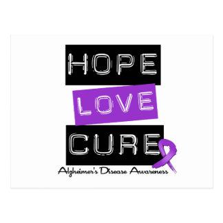 Hope Love Cure Label Alzheimer's Disease Postcard