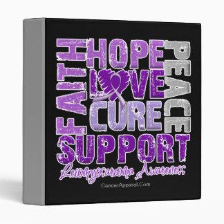 Hope Love Cure Leiomyosarcoma Awareness Binders