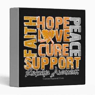 Hope Love Cure Leukemia Awareness 3 Ring Binder