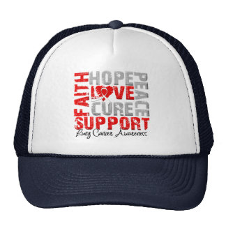 Hope Love Cure Lung Cancer Awareness Hats