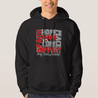 Hope Love Cure Lung Cancer Awareness Sweatshirts