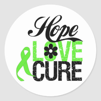 HOPE LOVE CURE Lymphoma Gifts Round Sticker