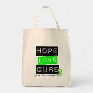 Hope Love Cure - Mental Health Awareness Tote Bag