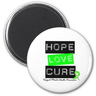 Hope Love Cure - Mental Health Awareness Fridge Magnet