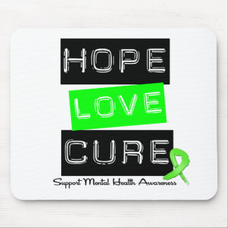 Hope Love Cure - Mental Health Awareness Mouse Pad