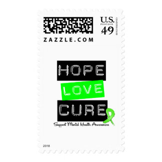 Hope Love Cure - Mental Health Awareness Postage Stamp