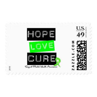 Hope Love Cure - Mental Health Awareness Stamp