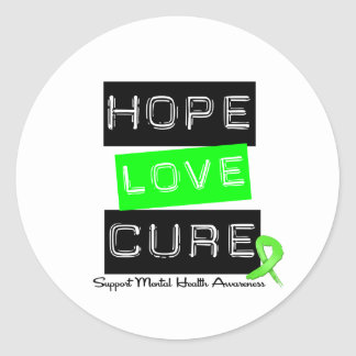 Hope Love Cure - Mental Health Awareness Sticker