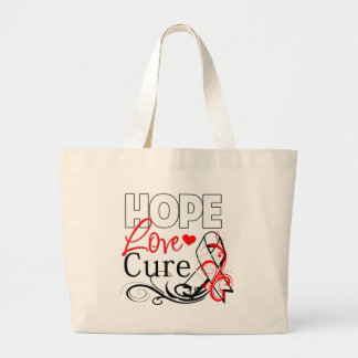 Hope Love Cure - Mesothelioma Awareness Canvas Bag
