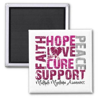 Hope Love Cure - Multiple Myeloma Awareness Fridge Magnet