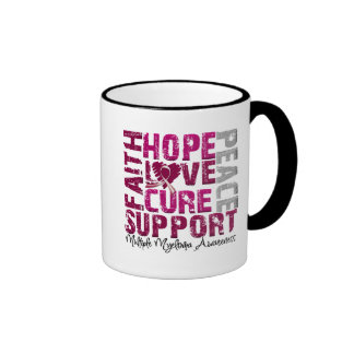 Hope Love Cure - Multiple Myeloma Awareness Ringer Coffee Mug