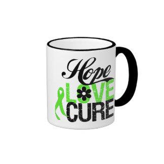 Hope Love Cure NON HODGKINS LYMPHOMA Gifts Ringer Mug