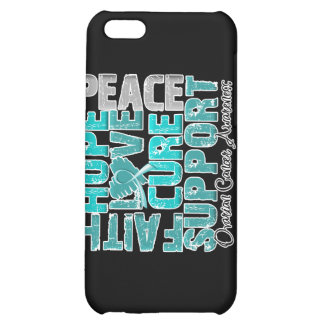 Hope Love Cure Ovarian Cancer Awareness iPhone 5C Case