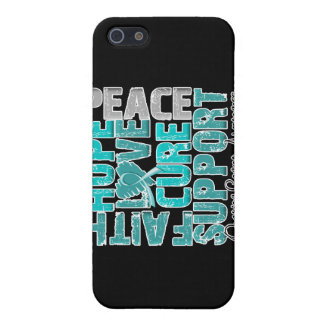 Hope Love Cure Ovarian Cancer Awareness iPhone 5 Case