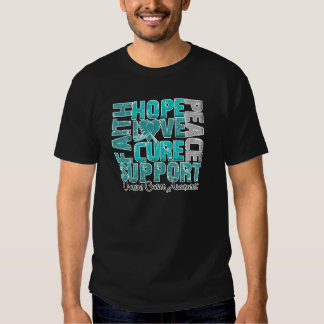 Hope Love Cure Ovarian Cancer Awareness T Shirts