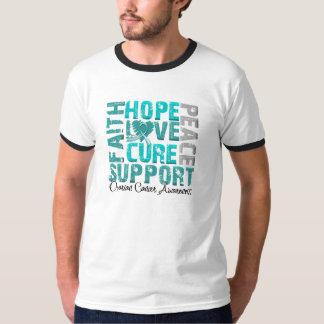 Hope Love Cure Ovarian Cancer Awareness Tshirt
