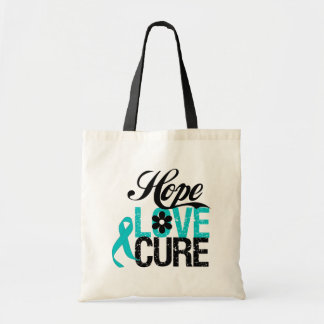 Hope Love Cure OVARIAN CANCER Gifts Tote Bag