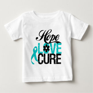 Hope Love Cure OVARIAN CANCER Gifts T-shirt