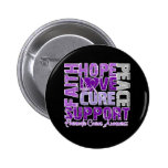 Hope Love Cure Pancreatic Cancer Awareness 2 Inch Round Button