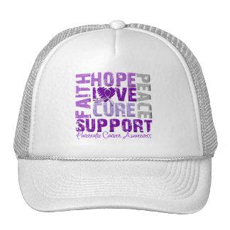 Hope Love Cure Pancreatic Cancer Awareness Trucker Hat