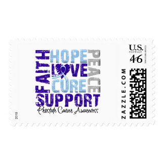 Hope Love Cure Prostate Cancer Awareness Stamps