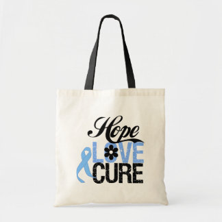 Hope Love Cure PROSTATE CANCER Gifts Canvas Bags