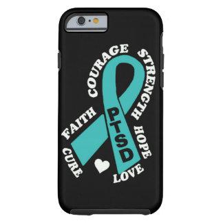 hope love cure ribbon PTSD Tough iPhone 6 Case