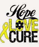 HOPE LOVE CURE Sarcoma Cancer Gifts Tee Shirts