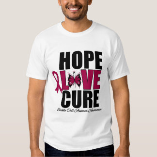 Hope Love Cure Sickle Cell Anemia T-Shirt