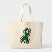 Hope Love Cure...TBI Large Tote Bag