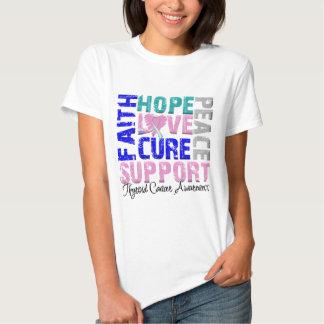Hope Love Cure Thyroid Cancer Awareness Tee Shirt