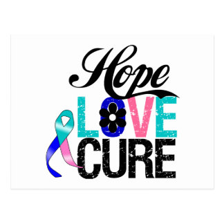HOPE LOVE CURE Thyroid Cancer Gifts Post Card