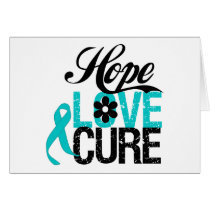 Hope Love Cure Tourette Syndrome Card