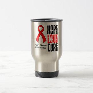 Hope Love Cure v2 Heart Disease Mugs