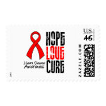 Hope Love Cure v2 Heart Disease Stamps