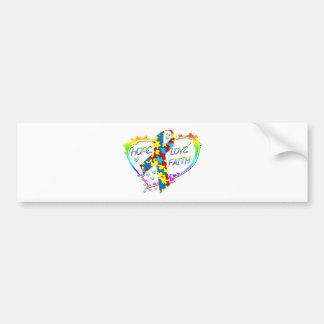 Hope Love Faith Bumper Sticker