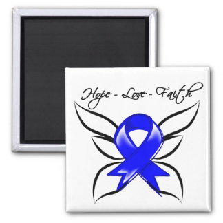 Hope Love Faith Butterfly - Ankylosing Spondylitis 2 Inch Square Magnet